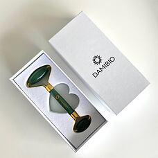 DAMIBIO Face Roller Aventurín zelený v dárkové krabičc
