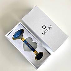 DAMIBIO Face Roller Aventurín modrý v dárkové krabičce